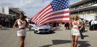 La bandera estadounidense en la parrilla de F1 - SoyMotor