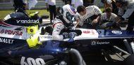 Valtteri Bottas en la salida de parrilla del GP de Alemania