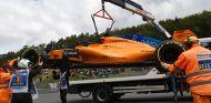 El coche de Vandoorne tras su accidente en los Libres 3 de Bélgica - SoyMotor.com