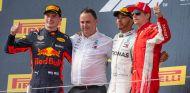 Max Verstappen, Lewis Hamilton y Kimi Räikkönen en Paul Ricard - SoyMotor.com