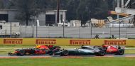 Max Verstappen, Lewis Hamilton y Sebastian Vettel en México - SoyMotor.com