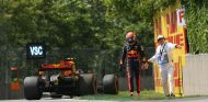 Verstappen, instantes después de abandonar en Canadá - SoyMotor.com