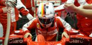 Sebastian Vettel durante los test de Montmeló - LaF1