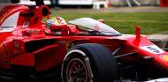 Sebastian Vettel, con el escudo en Silverstone - SoyMotor