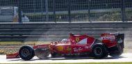 Imagen de un test de Vettel en verano con los neumáticos de lluvia de 2017 - SoyMotor