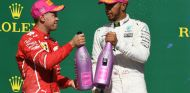 Vettel y Hamilton en el podio de Austin - SoyMotor.com