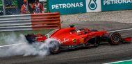 Sebastian Vettel tras su incidente en Monza - SoyMotor