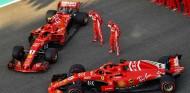 Sebastian Vettel y Kimi Räikkönen en el GP de Abu Dabi de 2018 - SoyMotor