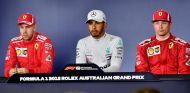 Vettel, Hamilton y Räikkönen en rueda de prensa - SoyMotor.com