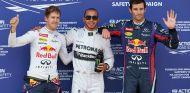 Sebastian Vettel, Lewis Hamilton y Mark Webber en el GP de Alemania F1 2013