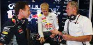 Sebastian Vettel junto a Christian Horner y Helmut Marko - LaF1