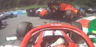 Leclerc y Vettel chocan en Estiria - SoyMotor.com