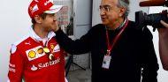 Sebastian Vettel y Sergio Marchionne en Shanghái - SoyMotor.com