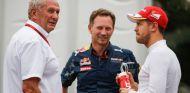 Vettel junto a Marko y Horner - SoyMotor