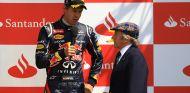 Sebastian Vettel y Sir Jackie Stewart en Silverstone - SoyMotor.com