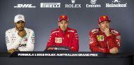De izq. a der.: Hamilton, Vettel y Räikkönen – SoyMotor.com
