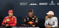 De izq. a der.: Sebastian Vettel, Daniel Ricciardo y Lewis Hamilton – SoyMotor.com