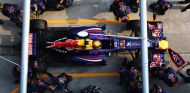 Pit stop de Mark Webber en el GP de Malasia F1 2013