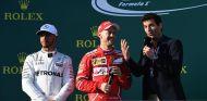 Hamilton, Vettel y Webber en el podio de Australia - SoyMotor