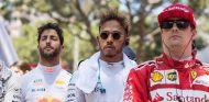 Daniel Ricciardo, Lewis Hamilton y Kimi Räikkönen en Mónaco - SoyMotor