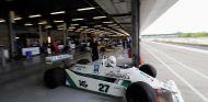 El FW07B durante un día de celebración previo al GP de Gran Bretaña de Williams en Silverstone - SoyMotor.com