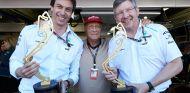 Toto Wolff, Niki Lauda y Ross Brawn en Mónaco 2013 - SoyMotor