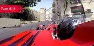¡Descubre la primera vuelta on board del circuito de Bakú!