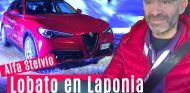 Lobato al volante del Alfa Romeo Stelvio en Laponia