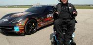 Sam Schmidt pilota a 245 por hora en Indianápolis