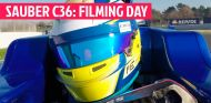 SAUBER C36: filming day en Barcelona