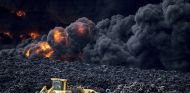 Incendio de un deposito de neumáticos en Seseña