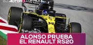Fernando Alonso prueba el Renault RS20 en un filming day