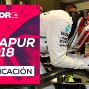 GP de Singapur F1 2018 – Directo clasificación