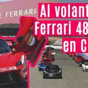 Al volante del Ferrari 488 GTB en Cheste