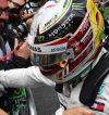 Lewis Hamilton celebra su Pole en Brasil - SoyMotor