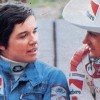 Lella Lombardi entre Vittorio Brambilla (izquierda) y Arturo Merzario (derecha) - LaF1