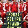 Mensaje de apoyo a Massa tras su accidente en Hungría 2009 - SoyMotor