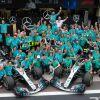 El equipo Mercedes celebra en Brasil el Mundial de Constructores - SoyMotor
