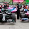 Coches de Lewis Hamilton y Lance Stroll tras la clasificación del GP de Hungría F1 2020 - Soymotor.com