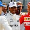 Valtteri Bottas, Lewis Hamilton y Sebastian Vettel en Spa - SoyMotor.com