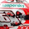 Leclerc, un casco especial por los 1.000 Grandes Premios de Ferrari - SoyMotor.com