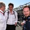 Helmut Marko, Toto Wolff y Christian Horner - SoyMotor.com