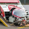 Un Porsche 962 C, destrozado en un accidente en Spa-Francorchamps
