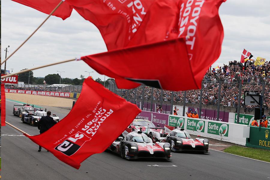 Los dos Toyota TS050 Hybrid en Le Mans - SoyMotor.com