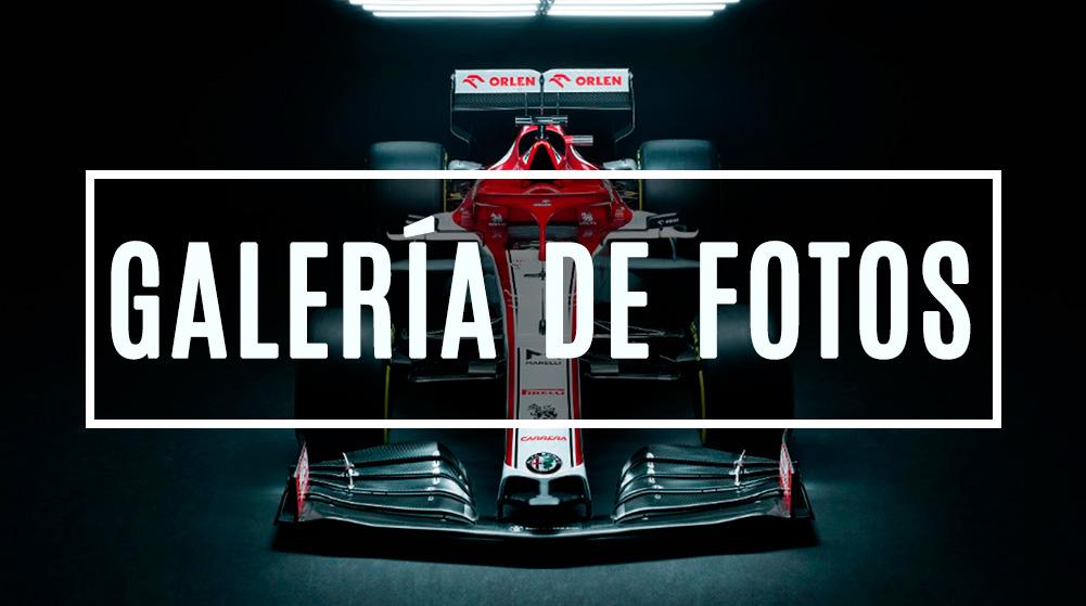 El Alfa Romeo C39 rueda con una singular decoración