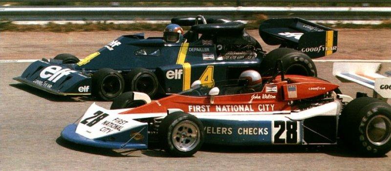 John Watson, Penske Pc3; Patrick Depailler, Tyrrell P34, año 1976