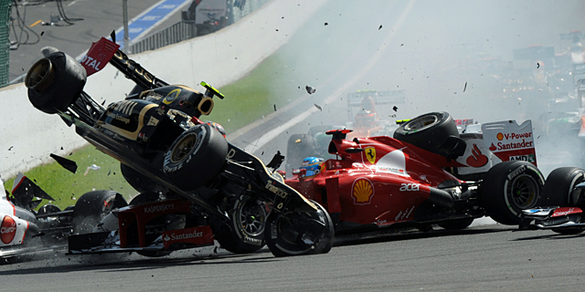 Accidente Fernando Alonso 2011