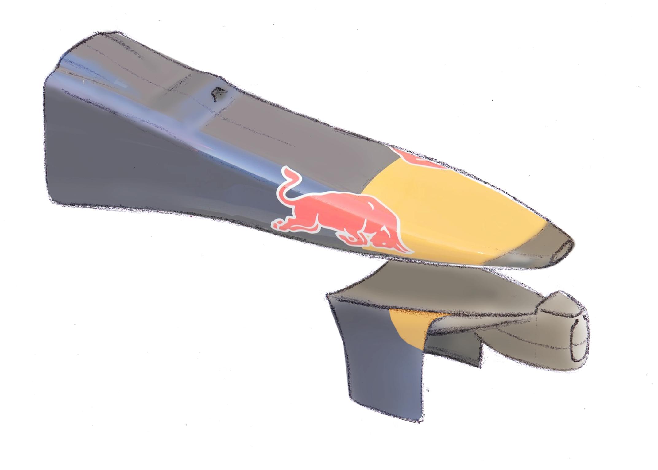 Detalle morro del Red Bull RB10