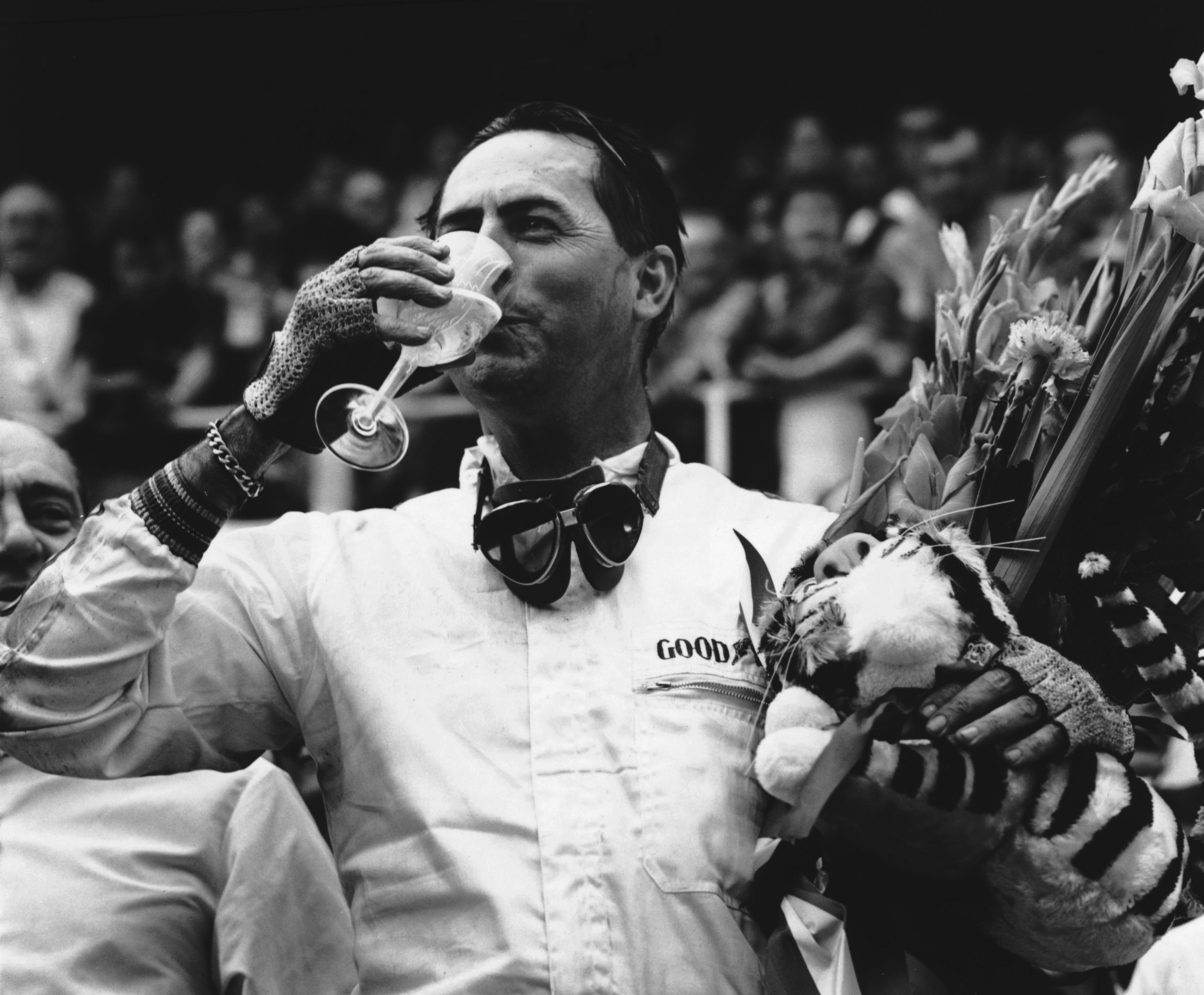 Sir Jack Brabham en el GP de Francia de 1966