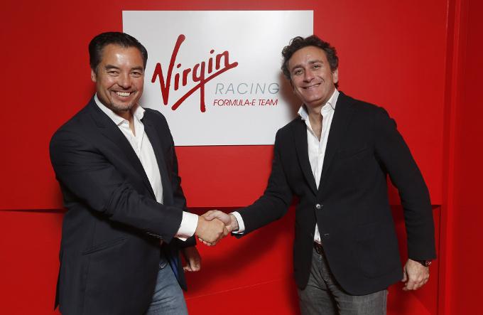 Alex Tai junto a Alejandro Agag en la presentación de Virgin en la fórmula E